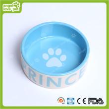 Projeto de moda Dog Footprint Ceramic Pet Bowl