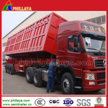 Basculeur latéral de remorque de camion à benne basculante de 40-50ton avec des cylindres hydrauliques