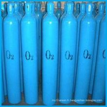 Cylindre médical utilisé de gaz d'oxygène de la pression 40L (ISO9809-3)