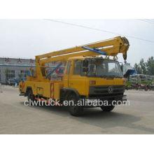 Buen rendimiento Dongfeng 145 Camión de plataforma alta, camión de plataforma de trabajo aéreo
