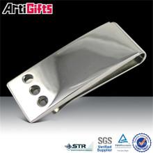 Clip metálico del dinero de las piezas del acero inoxidable de la promoción