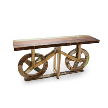 Consola de roda de madeira