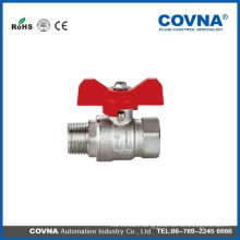 Butterfly handle nipper manual ball valve