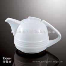 Gesunde, haltbare weiße Porzellan-Ofen-sichere Teekannen mit Deckel