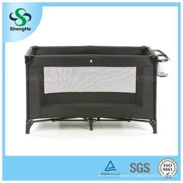 Простая удобная черная детская кроватка (SH-A10)