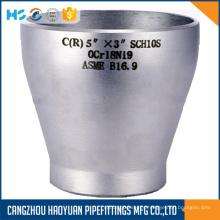 Reductor concéntrico de acero inoxidable
