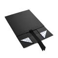 Caja de regalo plegable de lujo del vestido de boda del negro