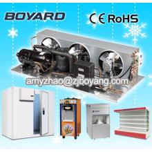 Almacenamiento en una habitación fría con compresor congelador de baja temperatura comercial Unidad de condensación de 1hp