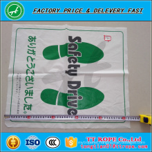 White disposable PE plastic foot mat for car cleaning