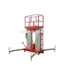 Plataforma de trabajo eléctrica hidráulica de dos mástiles / escalera telescópica eléctrica