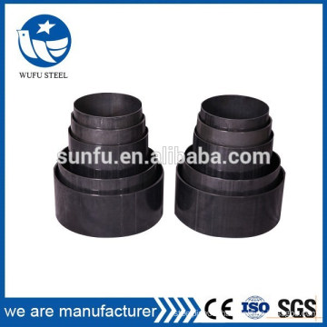 Premium grades painted black welded steel pipe with hole