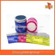 Etiqueta do frasco do óleo do cabelo sensível ao calor com impressão feita sob encomenda para o empacotamento das latas