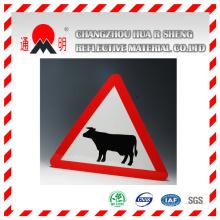Ingénierie qualité réfléchissante feuilles de Film pour la circulation routière signe un panneau d'avertissement (TM7600)