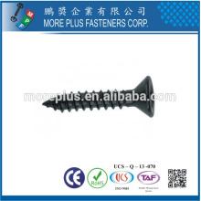Hecho en Taiwán Fabricante del tornillo M1.0-6.0 Acero inoxidable Cobertura del negro Tornillo de la cabeza plana autoperforante