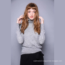 Pure cashmere sweater female high collar shoulder, long sleeve knit sweater, 2017 autumn and winter new undershirt sweater thin