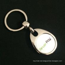 Benutzerdefinierte hochwertige Zink-Legierung Trolley Münze Schlüsselanhänger mit Magnet für Wirtschaftsförderung Werbung begraben
