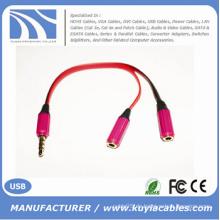 Hochwertige 3.5mm Audio Y Kabel Splitter 2 weiblich zu 1 männlichen Audio Adapter Kabel