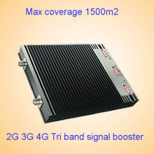 Indoor 2g 3G 4G 1800 2100 2600MHz Lte Triple Band Mobile Signal Booster/Repeater