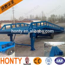 El descuento más bajo de 10 toneladas de carga de contenedores portátil descarga puente rampa de patio móvil con ce