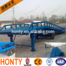 hydraulic mobile container loading yard ramp