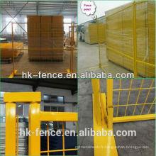 Panneaux de clôture modulaires temporaires enduits de poudre 6 pi x 10 pi