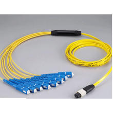 MPO-Sc 12core Mini Rodada 3.0mm Fibra Óptica Patchcord