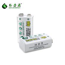 Barato melhores preços de alta capacidade 680 mah baterias de lítio 9 v bateria recarregável bateria de ciclo profundo