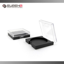 Plastic pressed powder container