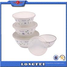 Itens mais vendidos 4 PCS Soup Bowl com tampa de plástico