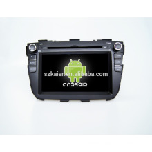 Quad core!car dvd with mirror link/DVR/TPMS/OBD2 for 7inch touch screen quad core 4.4 Android system Sorento 2013