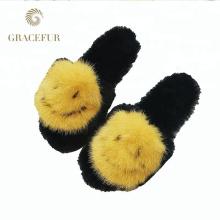 Zapatillas de pieles peludas con piel de excelente calidad para visón