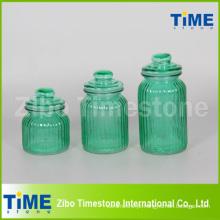 Conjunto de 3 spray de vidro cor com tampa de vidro