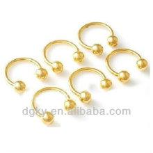 Cheville à nez bijoux en pierres piercing à nez d'or