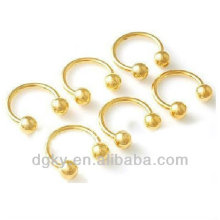 Nariz parafuso corpo jóias ouro nariz piercing