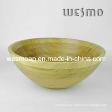 Tigela de salada de cozinha de bambu carbonizado