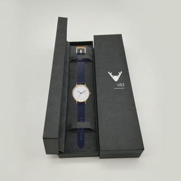Boîte d'emballage de montre de luxe avec logo personnalisé