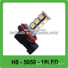 CE & ROHS 18 pcs 5050 SMD H8 led auto head lights