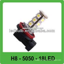 CE&ROHS 18 pcs 5050 SMD H8 led auto head lights
