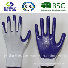 Polyester Shell with Nitrile Coated Work Gloves (SL-N102)