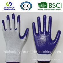 Casaco de poliéster com luvas de trabalho revestidas de nitrilo (SL-N102)