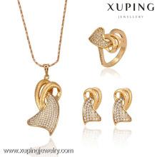 63067 - Conjunto Jewlery nupcial da liga de cobre da forma da jóia de Xuping com o ouro 18K chapeado