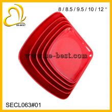 beautiful melamine dinnerware set red high grade plate