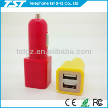 Cube and Cylinder Shape Dual Female USB Connector