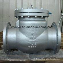 150lb / 300lb / 600lb Válvula de retención de colada de extremo de brida de acero fundido