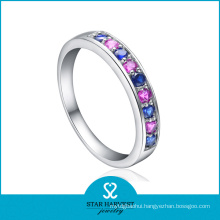 Simple Style Colorful CZ Silver Eternity Ring (SH-R0152)