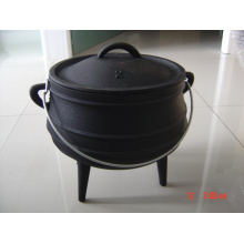 south Africa cast iron potjie pot with 3 legs