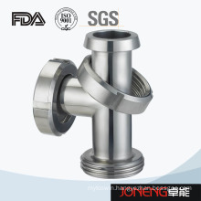 Stainless Steel Male Union Sanitary Equal Tee (JN-FT2020)