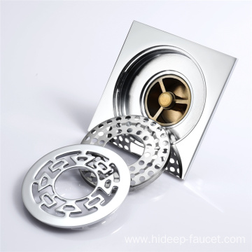 Pure Brass Anti-odor Bathroom Floor Drain