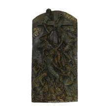 Relievo Messing Statue Bibel Relief Carving Bronze Skulptur Tpy-843