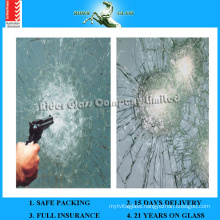6.38-43.2mm AS/NZS2208: 1996 Bulletproof Bullet Proof Glass